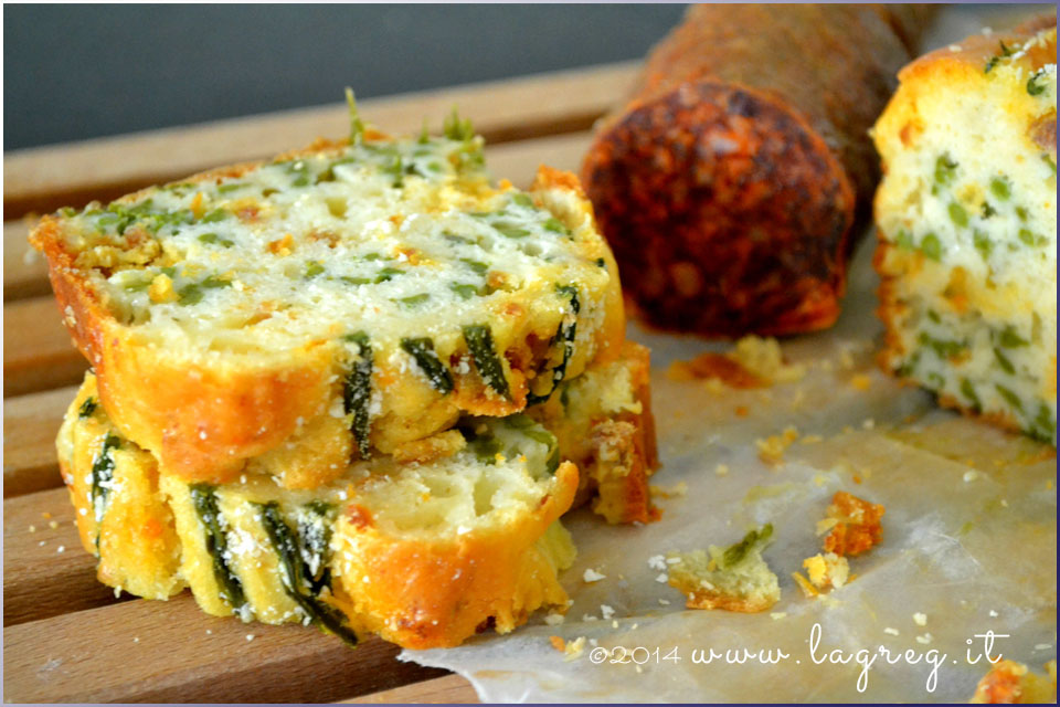 cake agli asparagi selvatici e salame piccante1