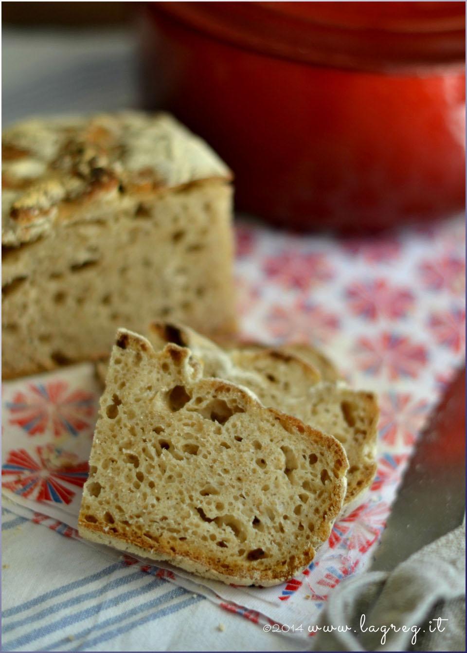no knead bread con lievito madre3