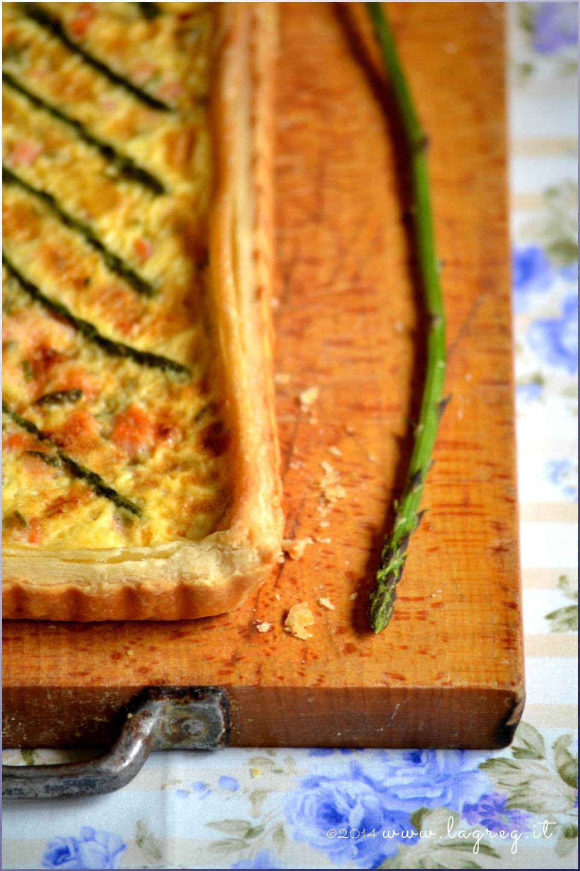 quiche di salmone e asparagi