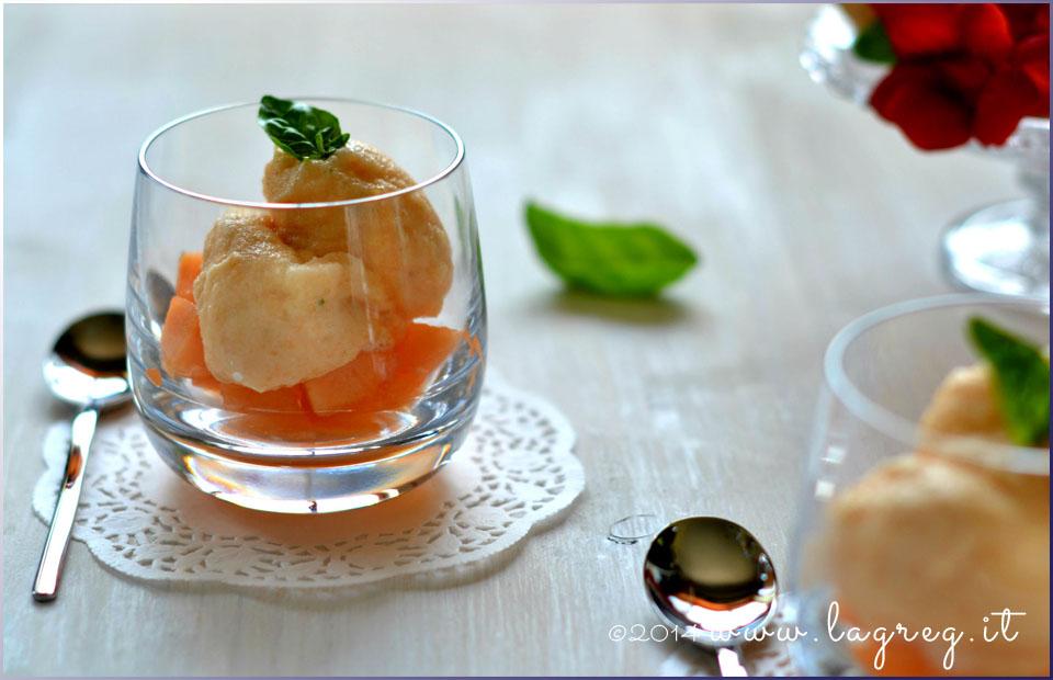 sorbetto di melone al basilico