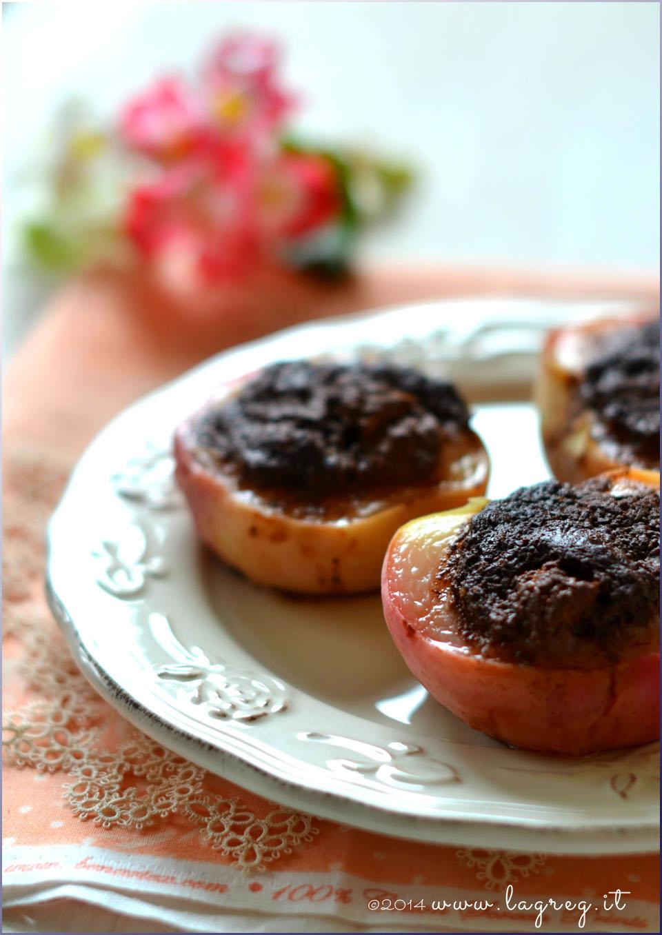 pesche ripiene alla piemontese | amaretti and cocoa stuffed peaches