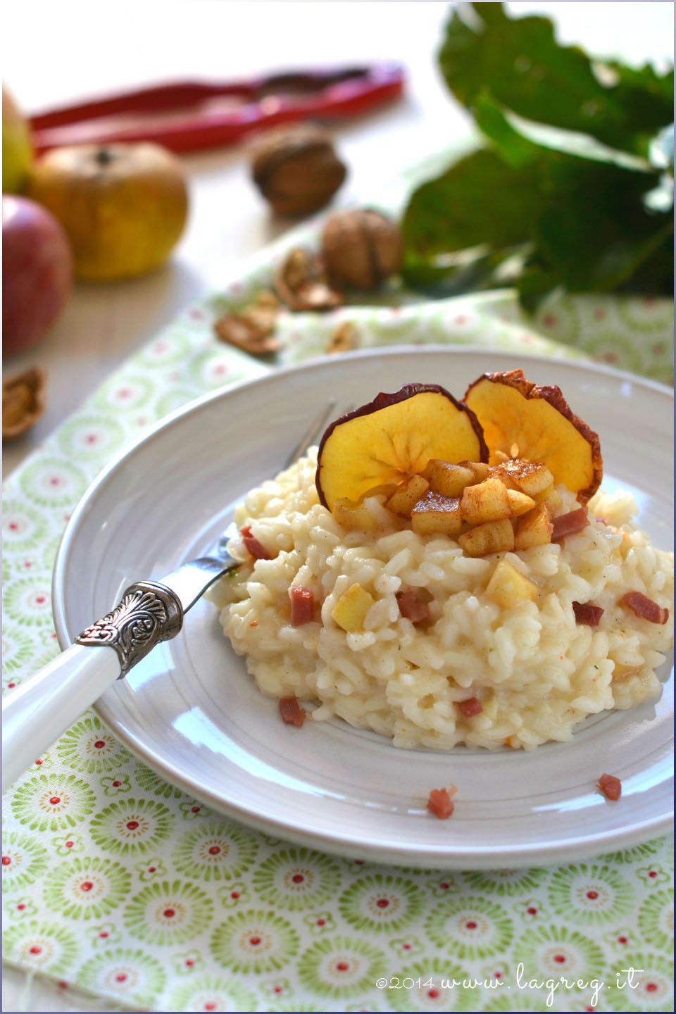 risotto mele e speck | apple and speck risotto
