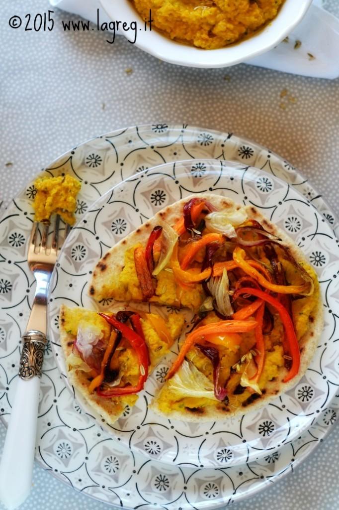 piadine con hummus di carote