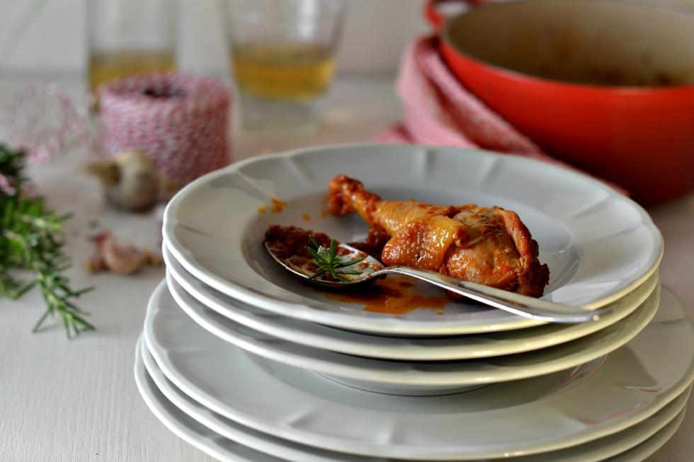 pollo in potacchio cucina marchigiana