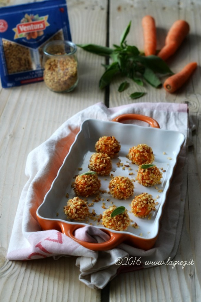polpettine di carote e fior di sale al Balsamico