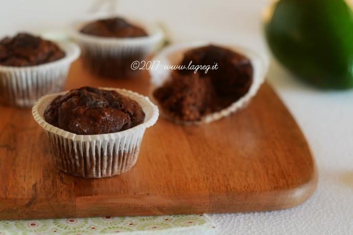 avocado chocolate muffin