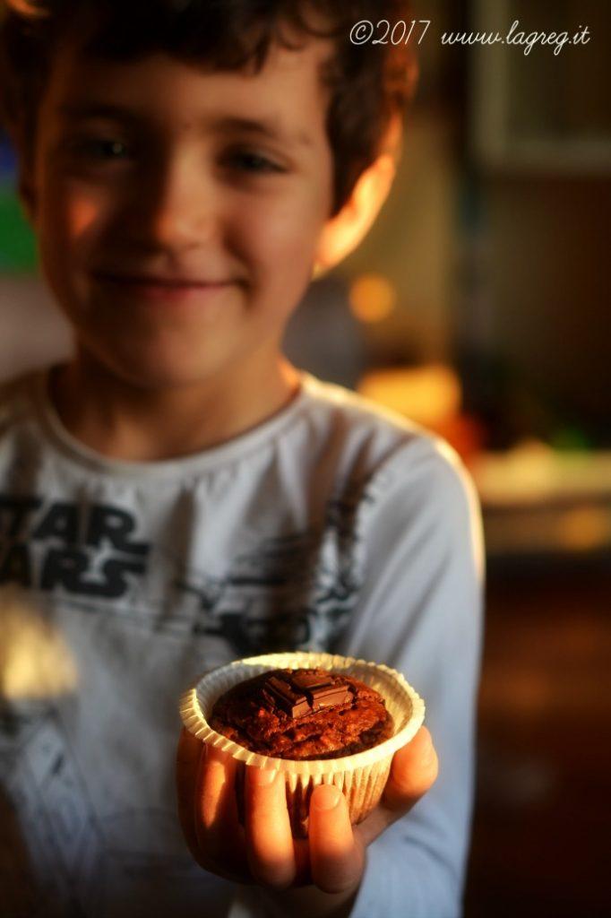 chocolate avocado muffin
